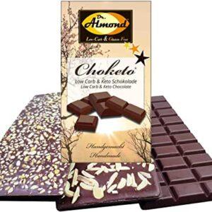 CHOKETO Low Carb & Keto Schokolade BUNTES MIX-Paket PUR